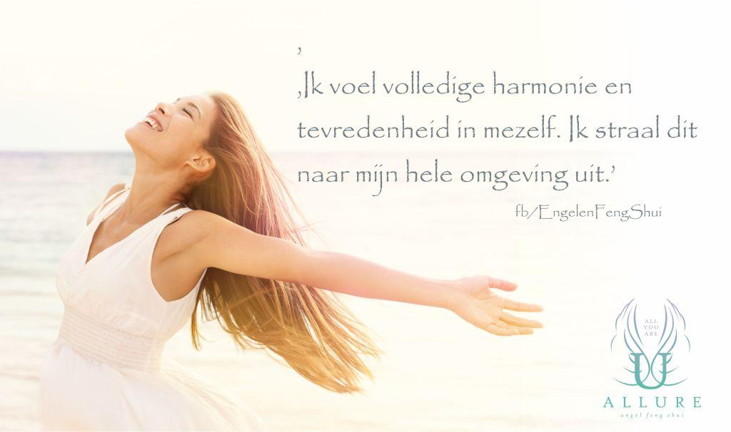 harmonie uitstralen